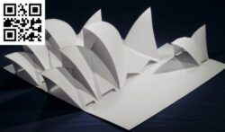 Sydney Opera House E0012821 file cdr and dxf free vector download for laser cut