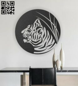 Tiger E0012941 file cdr and dxf free vector download for laser engraving machines