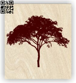 Tree E0012655 file cdr and dxf free vector download for laser engraving machines