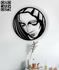Virgin Mary E0012938 file cdr and dxf free vector download for laser cut plasma