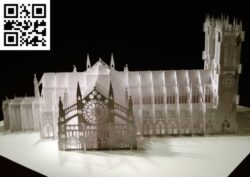 Westminster Abbey E0012793 file cdr and dxf free vector download for laser cut