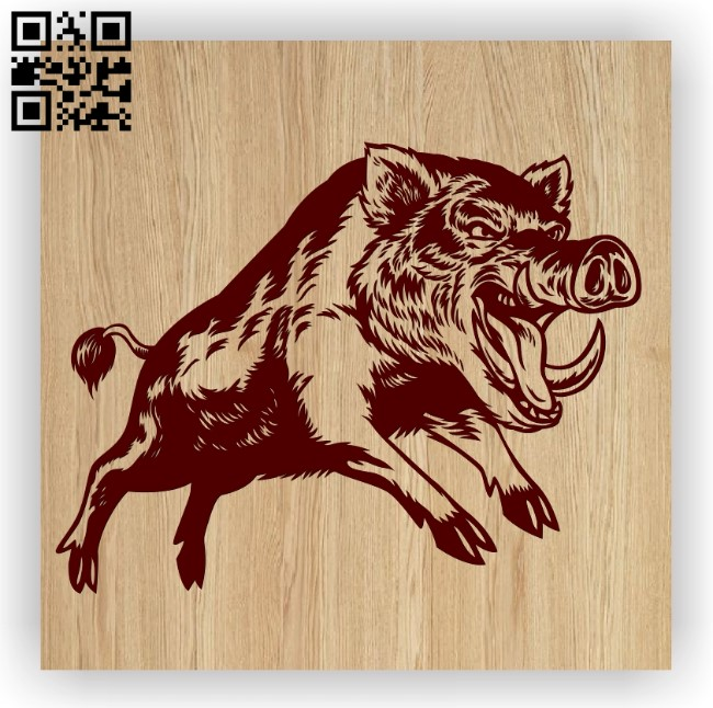 Wild boar E0012595 file cdr and dxf free vector download for laser engraving machines