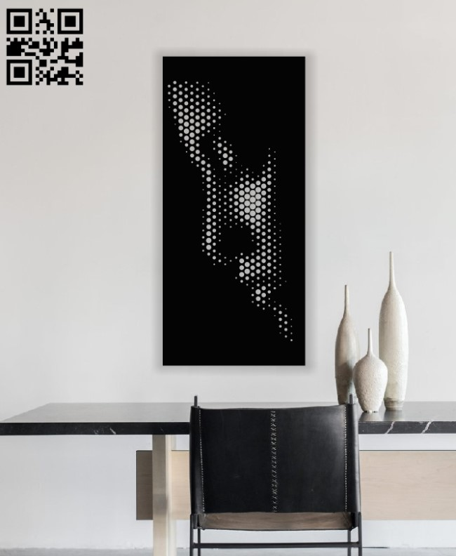 Woman face panel E0012773 file cdr and dxf free vector download for laser plasma