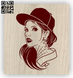 Woman with cap E0012597 file cdr and dxf free vector download for laser engraving machines