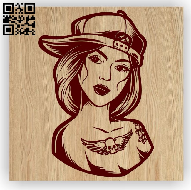 Woman with tattoo E0012660 file cdr and dxf free vector download for laser engraving machines