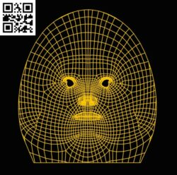 3D illusion led lamp Egg man face E0013185 file cdr and dxf free vector download for laser engraving machines