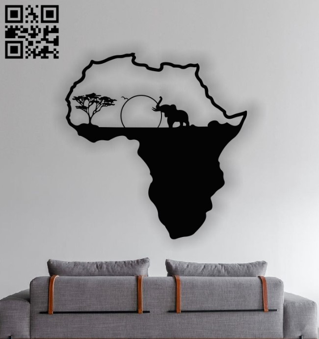 African elephant E0012964 file cdr and dxf free vector download for laser cut plasma