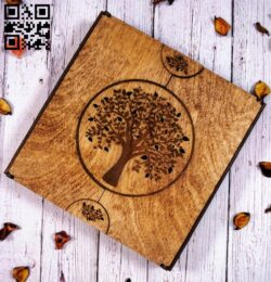 Album box E0013147 file cdr and dxf free vector download for laser cut