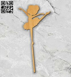 Ballerina topper E0013082 file cdr and dxf free vector download for laser cut