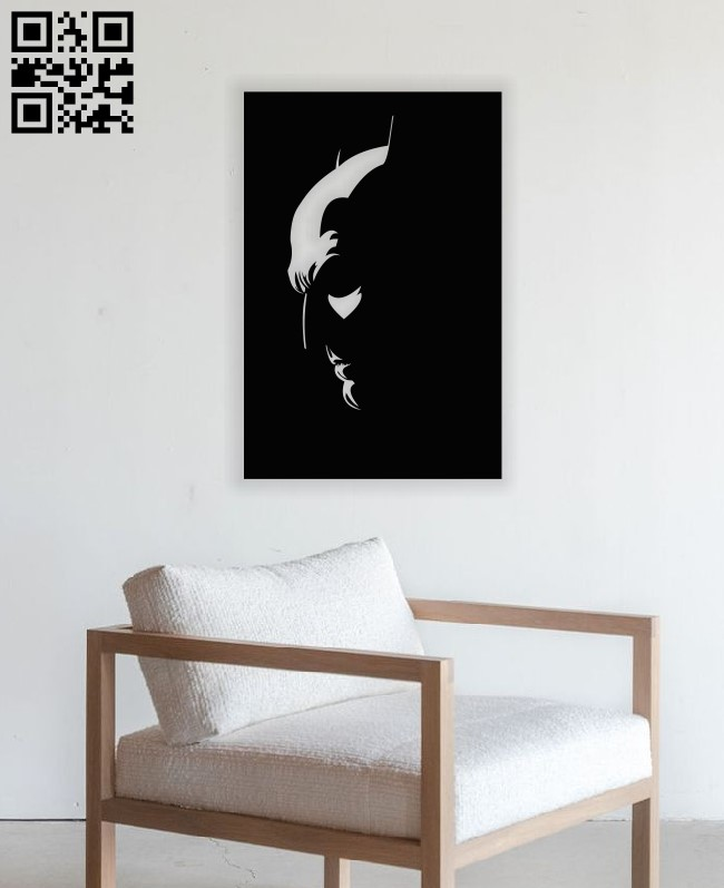 Batman wall art E0013062 file cdr and dxf free vector download for laser cut plasma