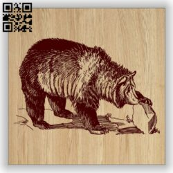 Bear E0013026 file cdr and dxf free vector download for laser engraving machines