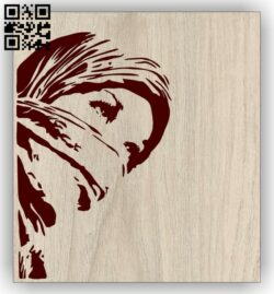 Beautiful girl E0013024 file cdr and dxf free vector download for laser engraving machines