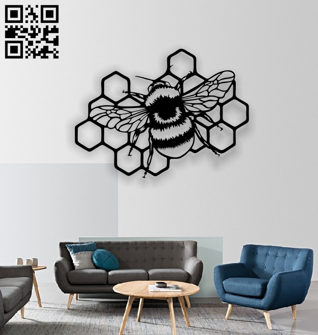 Bee E0013177 file cdr and dxf free vector download for laser cut plasma