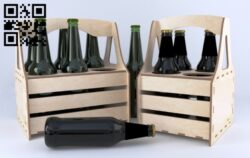 Beer holder E0013053 file cdr and dxf free vector download for laser cut