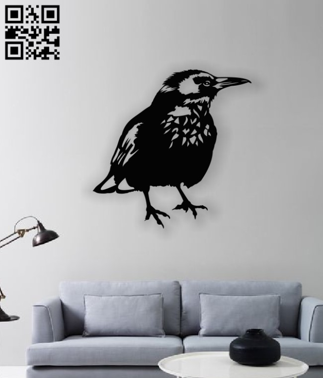 Bird wall dercor E0013015 file cdr and dxf free vector download for laser cut plasma