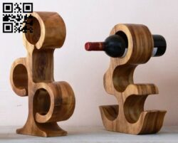 Bottle stand E0013032 file cdr and dxf free vector download for cnc