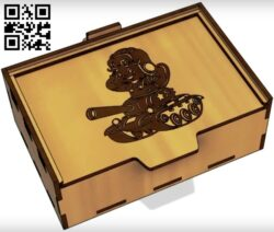 Box E0013033 file cdr and dxf free vector download for laser cut