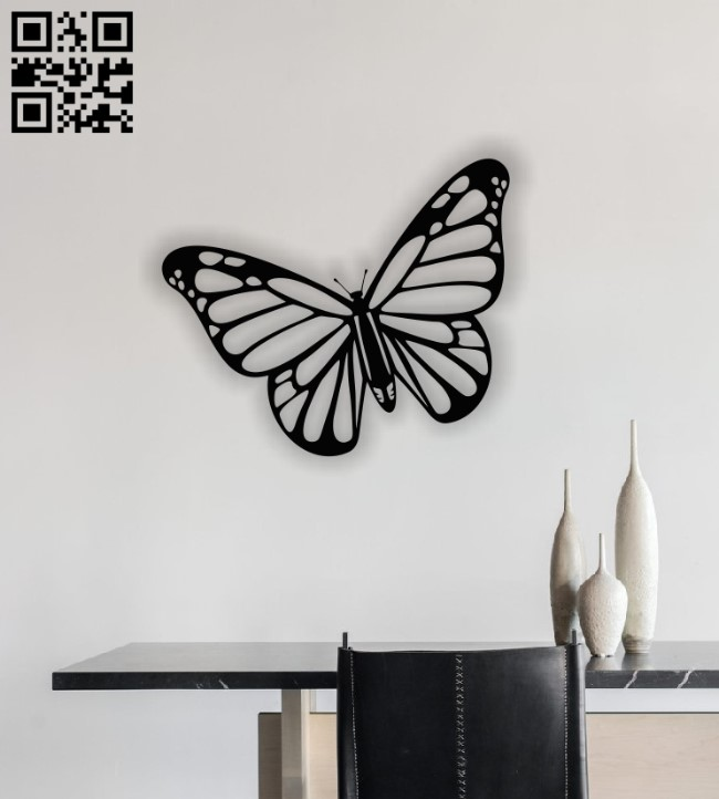 Butterfly E0013090 file cdr and dxf free vector download for laser cut plasma