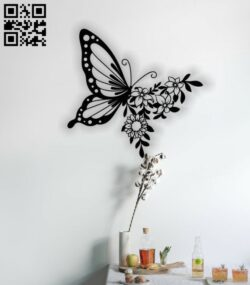 Butterfly E0013141 file cdr and dxf free vector download for laser cut