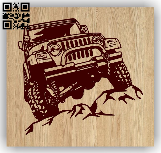 Car E0013155 file cdr and dxf free vector download for laser engraving machines