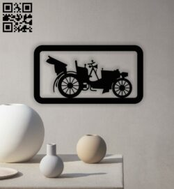 Car wall decor E0013014 file cdr and dxf free vector download for laser cut plasma