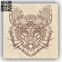 Cat E0013077 file cdr and dxf free vector download for laser engraving machines