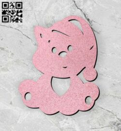 Cat keychain E0013056 file cdr and dxf free vector download for laser cut