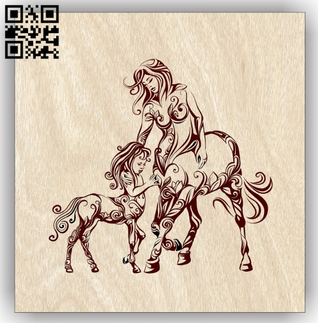 Centaurs E0013103 file cdr and dxf free vector download for laser engraving machines