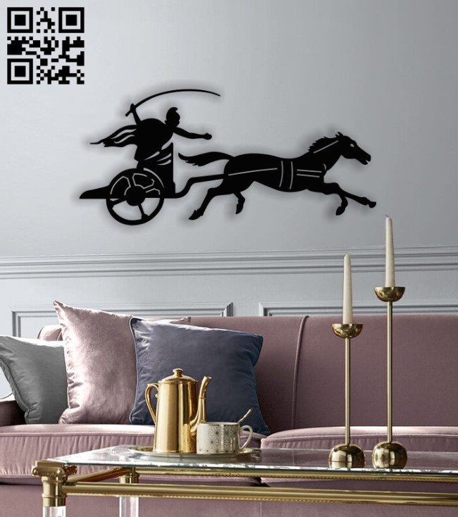 Chariot E0013064 file cdr and dxf free vector download for laser cut plasma