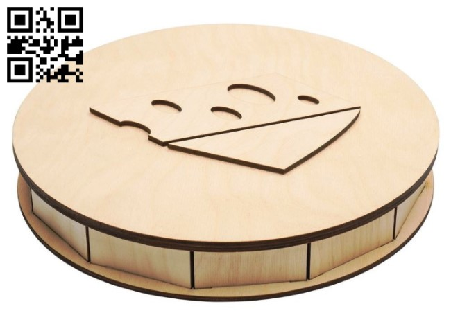 Cheese box E0012990 file cdr and dxf free vector download for laser cut