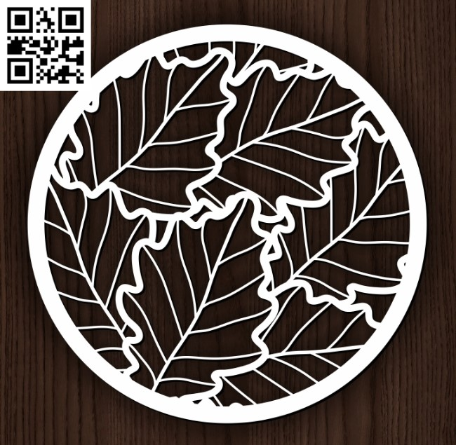 Circle ornament E0013109 file cdr and dxf free vector download for laser cut plasma