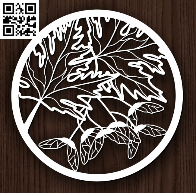 Circle ornament E0013110 file cdr and dxf free vector download for laser cut plasma