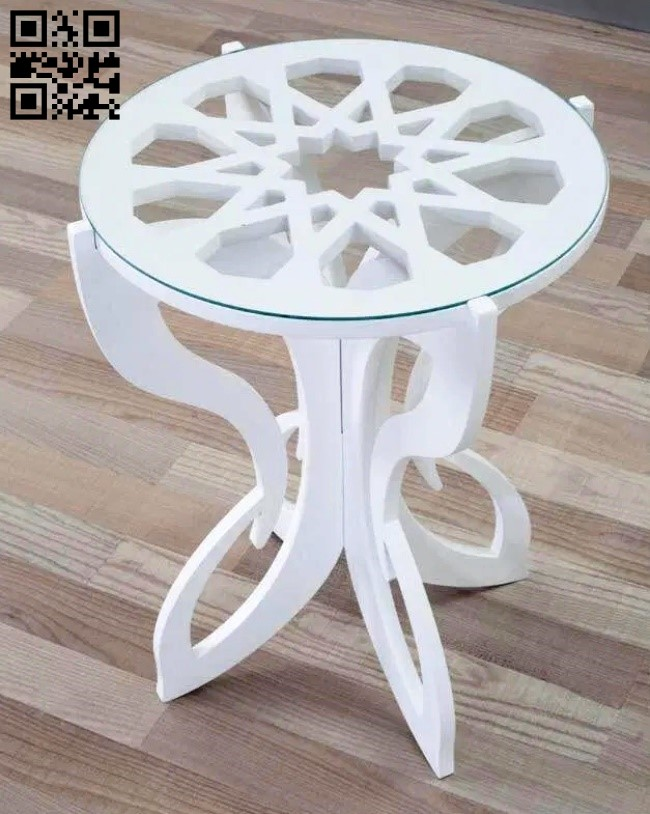 Coffee table E0013034 file cdr and dxf free vector download for laser cut