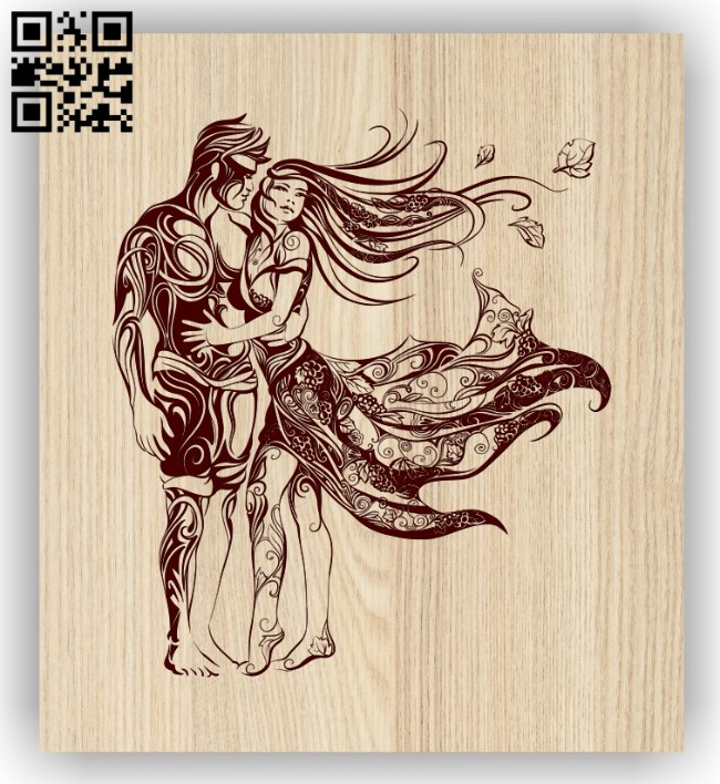 Couple E0013192 file cdr and dxf free vector download for laser engraving machines