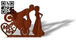 Couple with motorcycle E0013094 file cdr and dxf free vector download for laser cut plasma
