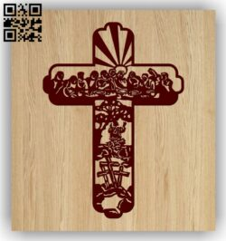 Cross E0013189 file cdr and dxf free vector download for laser engraving machines