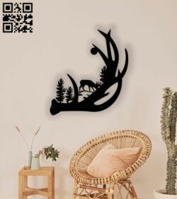 Deer wall decor E0013091 file cdr and dxf free vector download for laser cut plasma