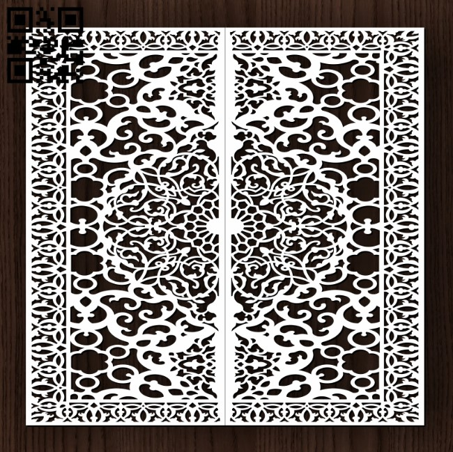 Design pattern door E0013194 file cdr and dxf free vector download for laser cut cnc
