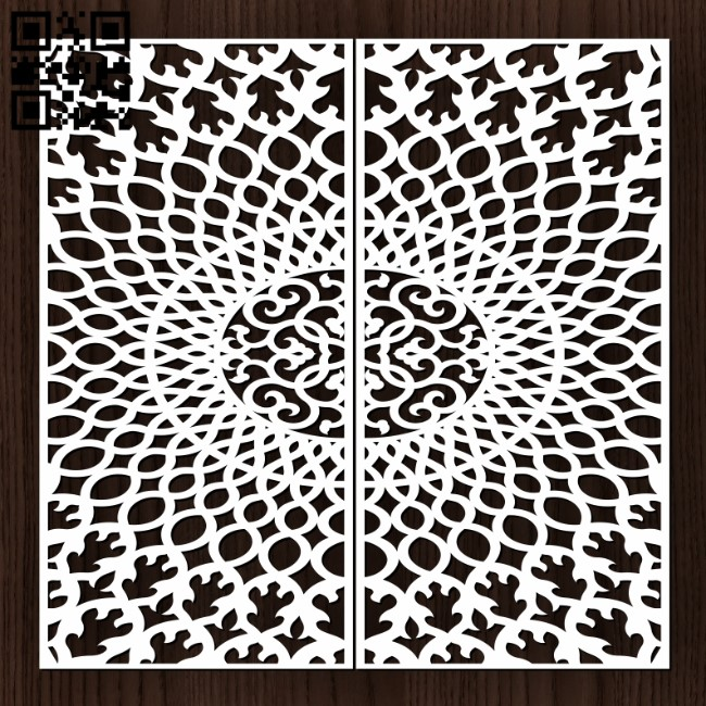 Design pattern door E0013196 file cdr and dxf free vector download for laser cut cnc