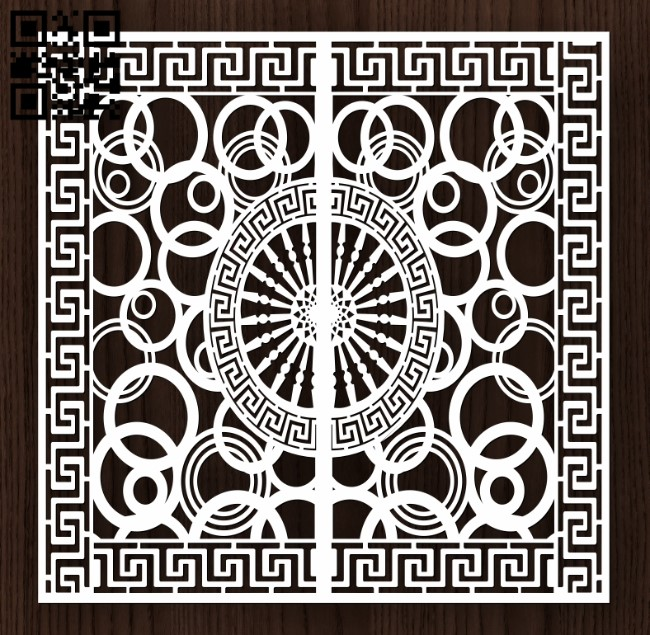 Design pattern door E0013197 file cdr and dxf free vector download for laser cut cnc