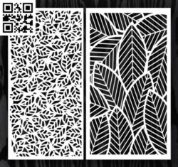 Design pattern screen panel E0012958 file cdr and dxf free vector download for laser cut cnc