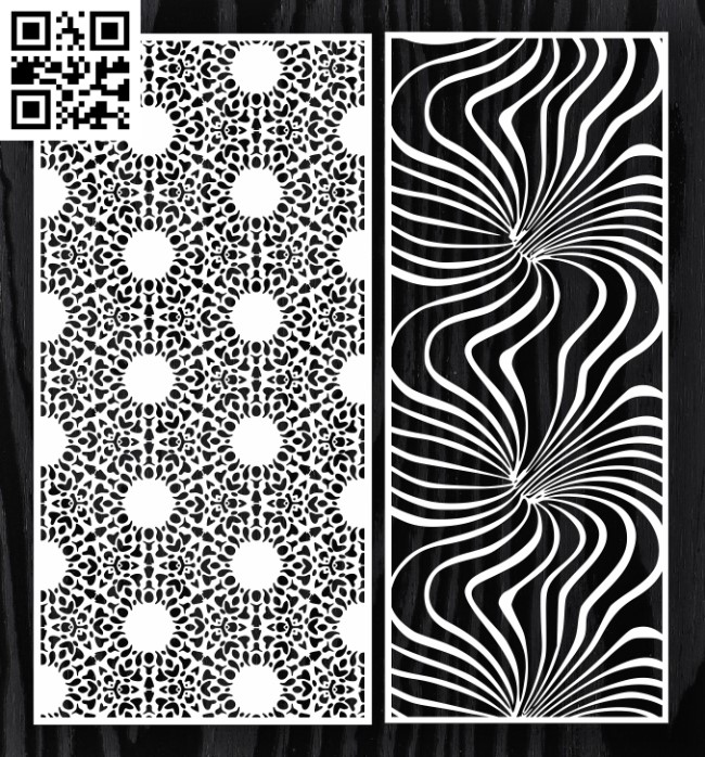 Design pattern screen panel E0012959 file cdr and dxf free vector download for laser cut cnc