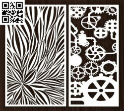 Design pattern screen panel E0012960 file cdr and dxf free vector download for laser cut cnc
