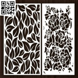 Design pattern screen panel E0012961 file cdr and dxf free vector download for laser cut cnc