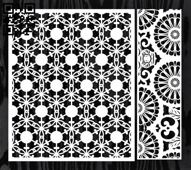 Design pattern screen panel E0012995 file cdr and dxf free vector download for laser cut cnc