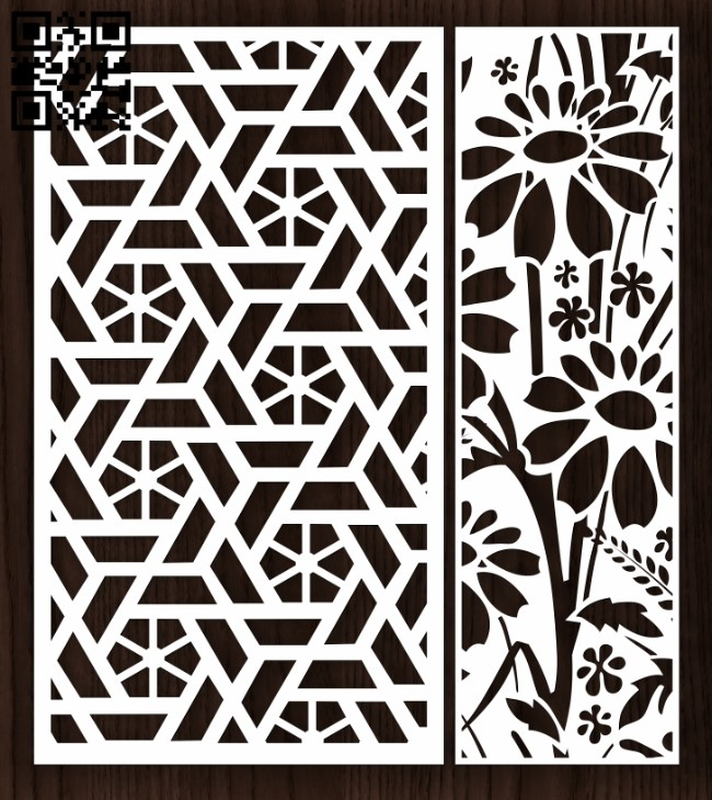 Design pattern screen panel E0012996 file cdr and dxf free vector download for laser cut cnc