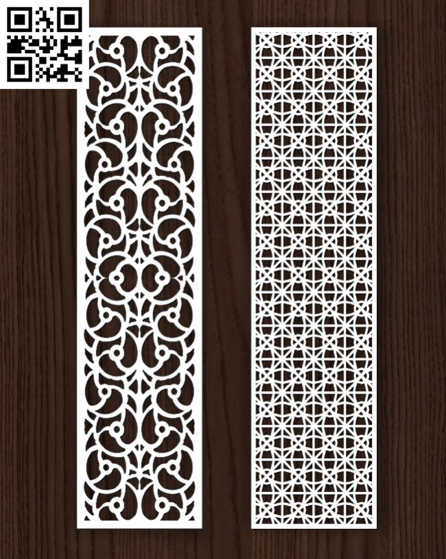Design pattern screen panel E0013049 file cdr and dxf free vector download for laser cut cnc