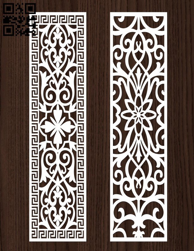 Design pattern screen panel E0013069 file cdr and dxf free vector download for laser cut cnc