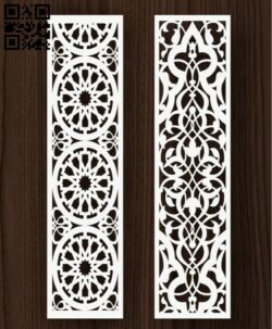 Design pattern screen panel E0013070 file cdr and dxf free vector download for laser cut cnc