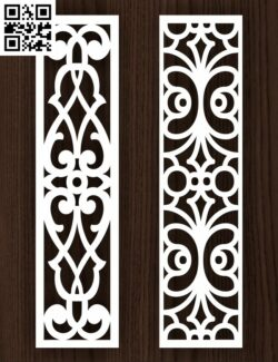 Design pattern screen panel E0013071 file cdr and dxf free vector download for laser cut cnc